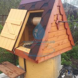 домик с дверкой для набора воды из колодца